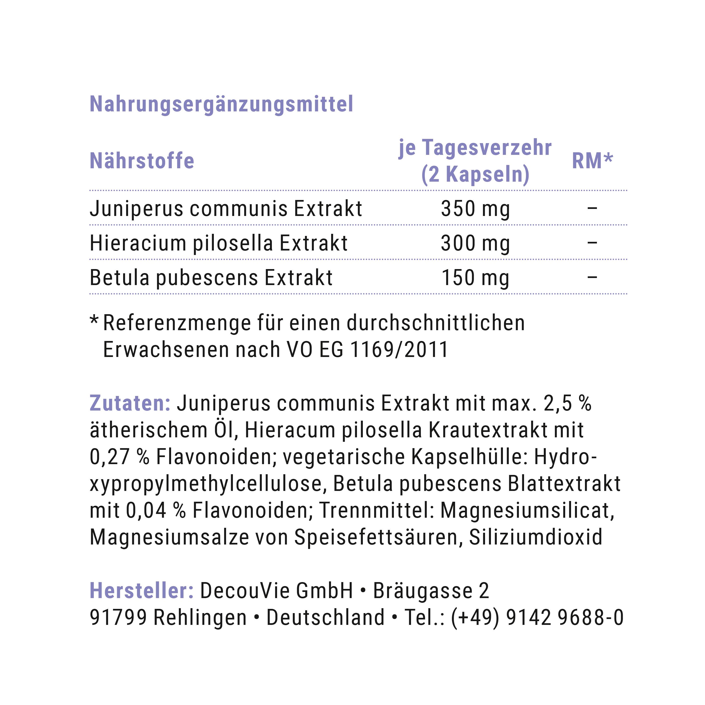 Draineur Niere, zur Unterstützung des Nierenstoffwechsels, 60 Kapseln